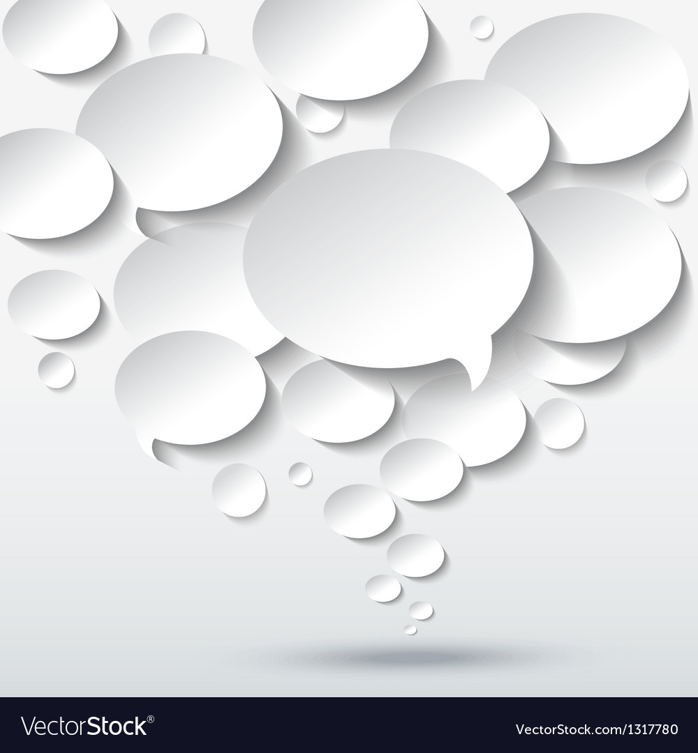 Abstract 3d background with bubble speech vector