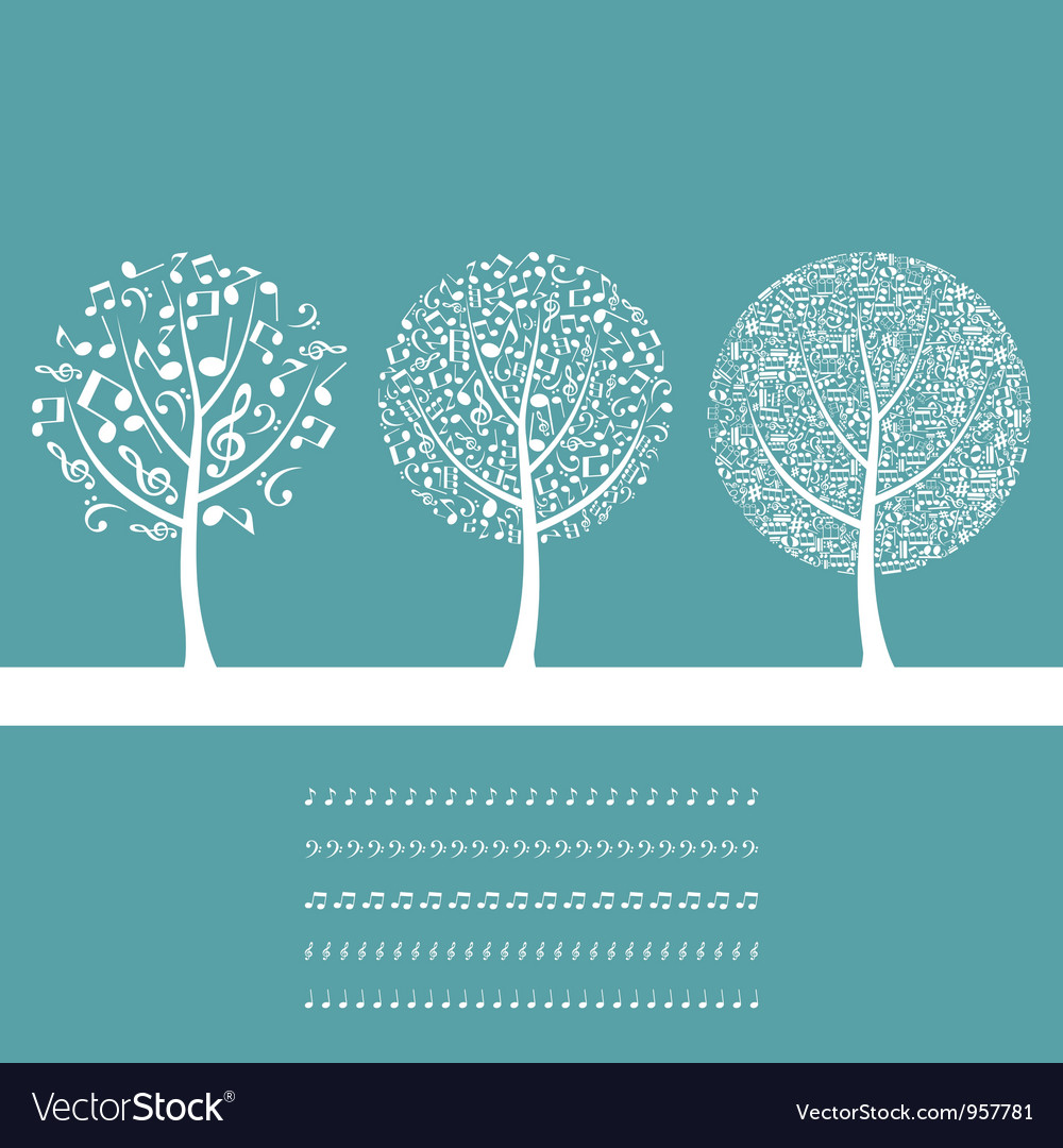 Musical tree8 vector