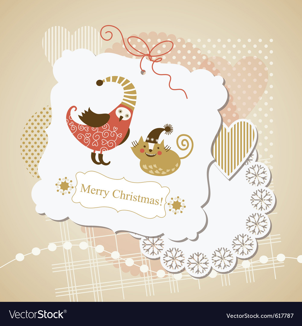 Cute scrap-booking elements vector