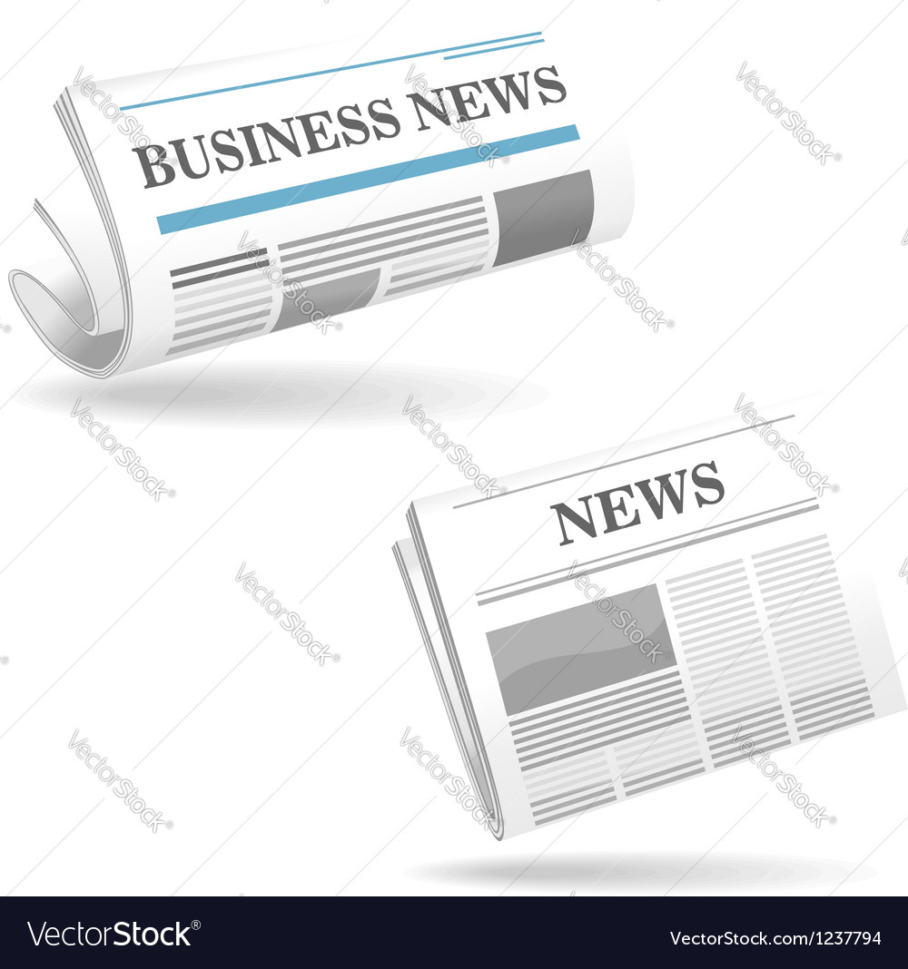 Realistic newspaper icons vector