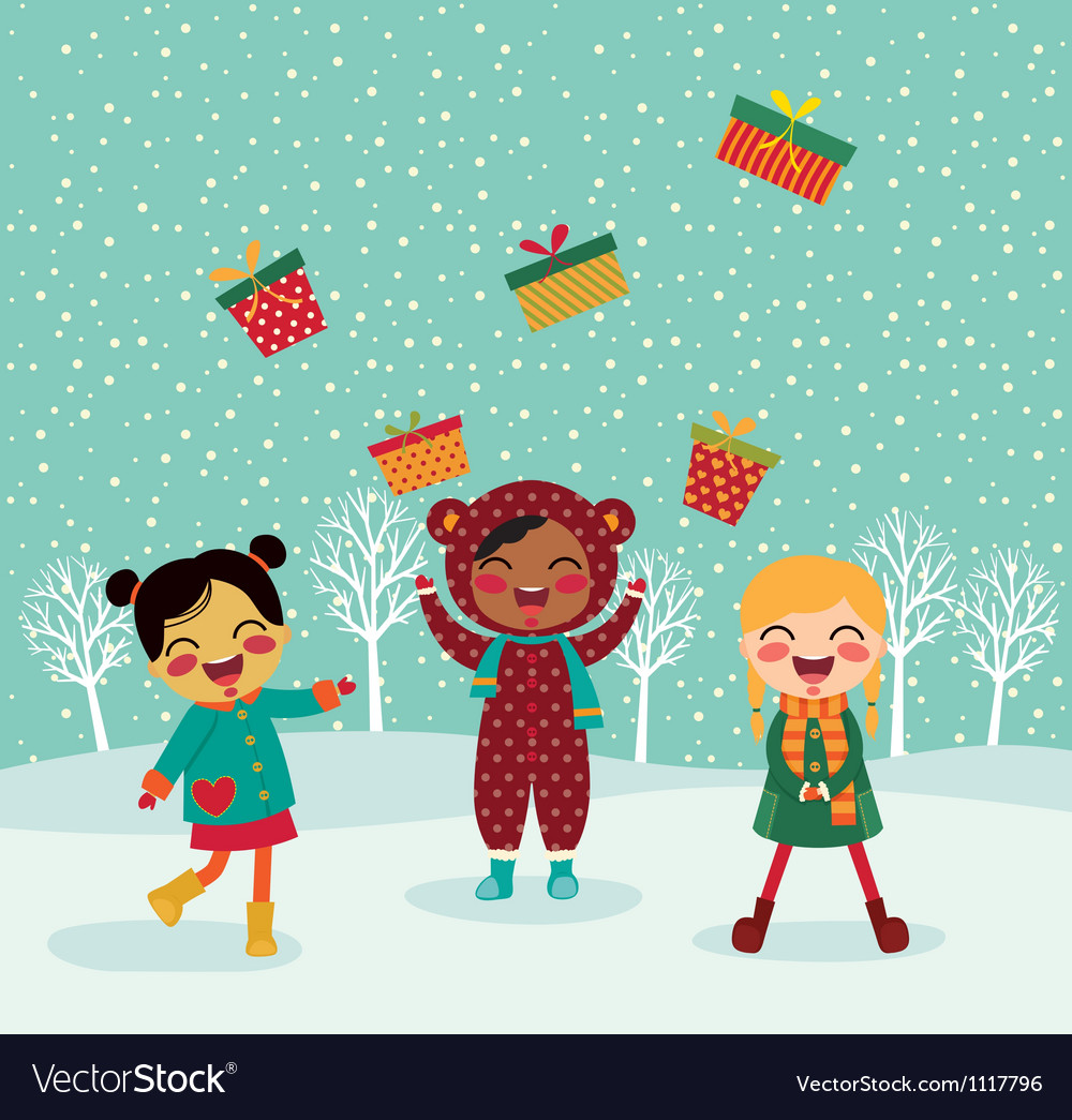 Gifts for christmas vector
