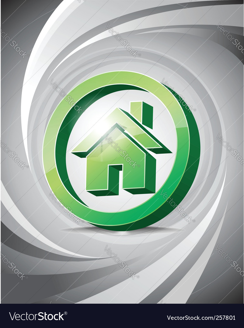 3d icon home vector