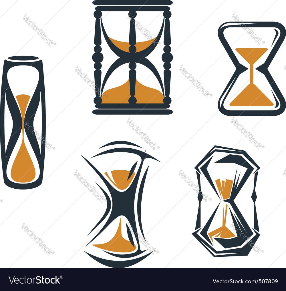 Hourglass symbols vector