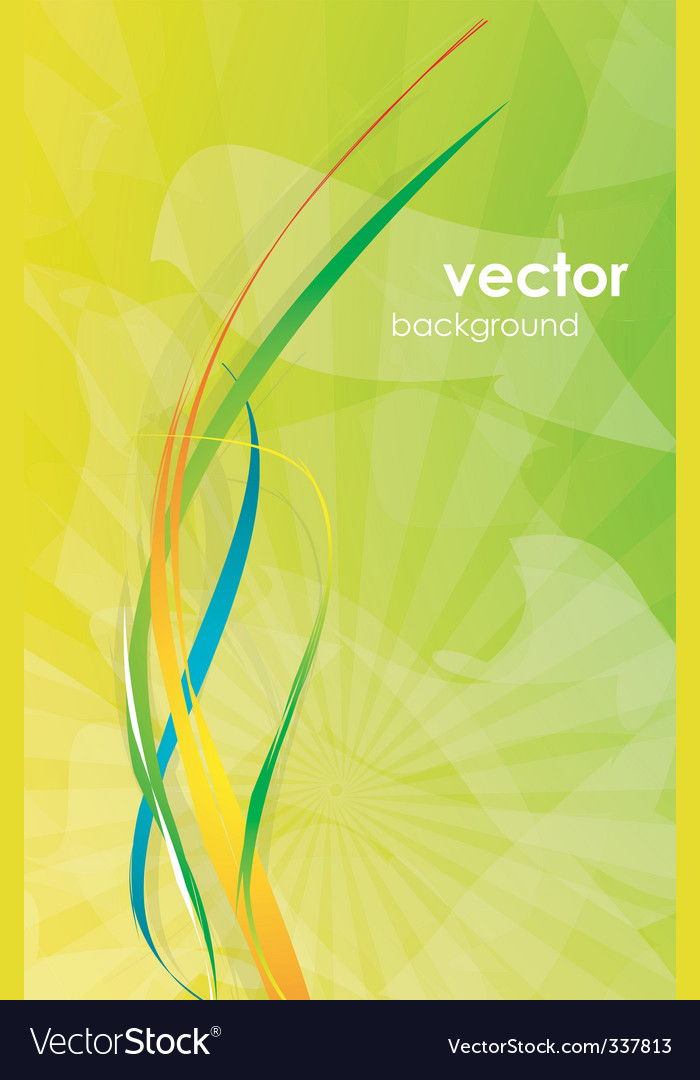 Modern floral background vector