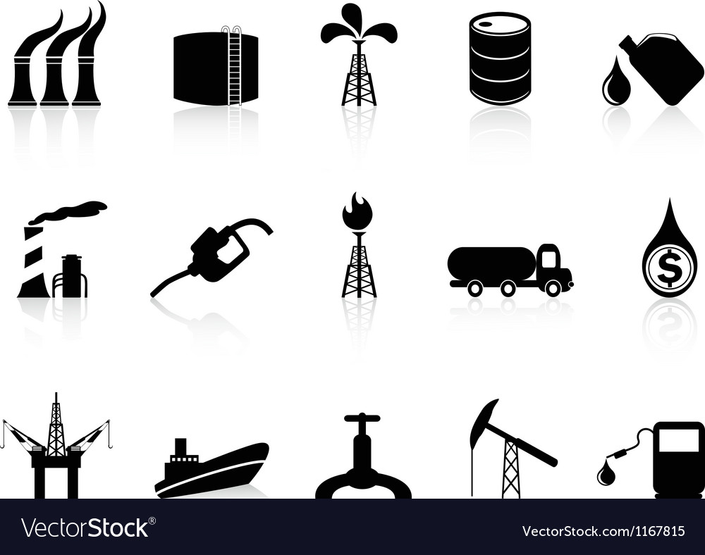Oil industry icon vector