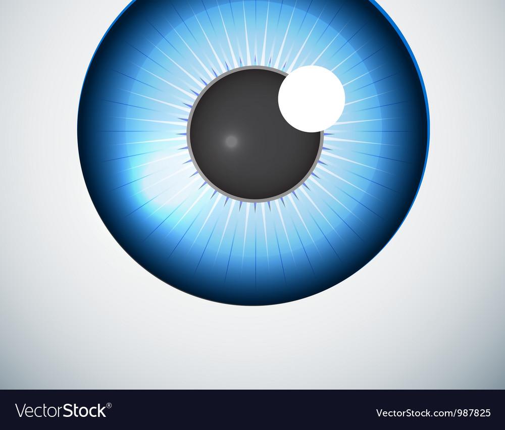 Blue eye ball background vector