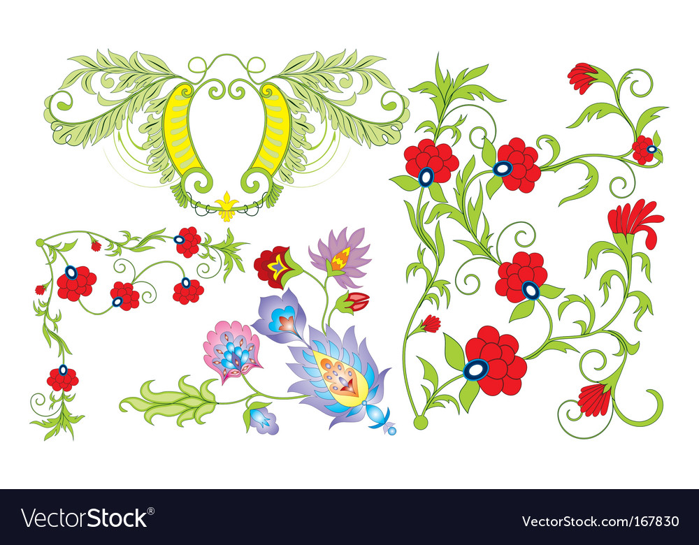 Flower collection vector