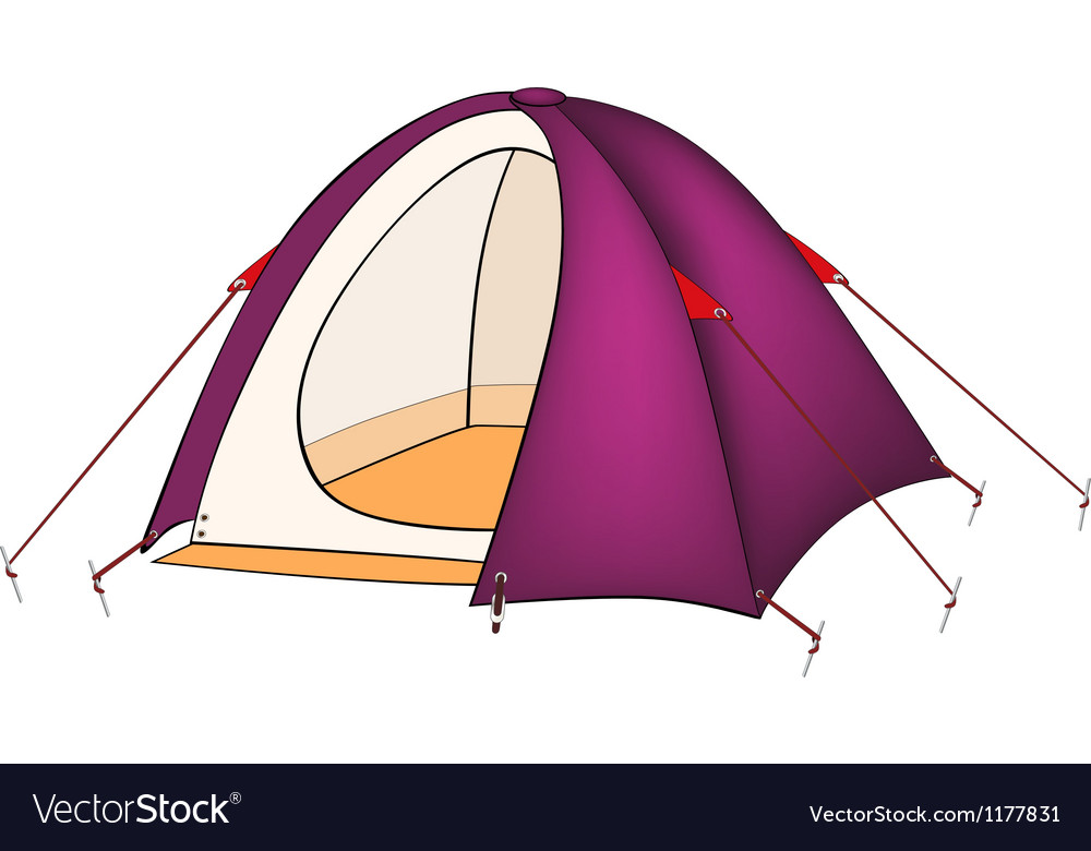Violet tent vector