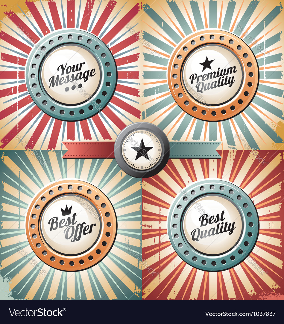 Retro and vintage backgrounds vector