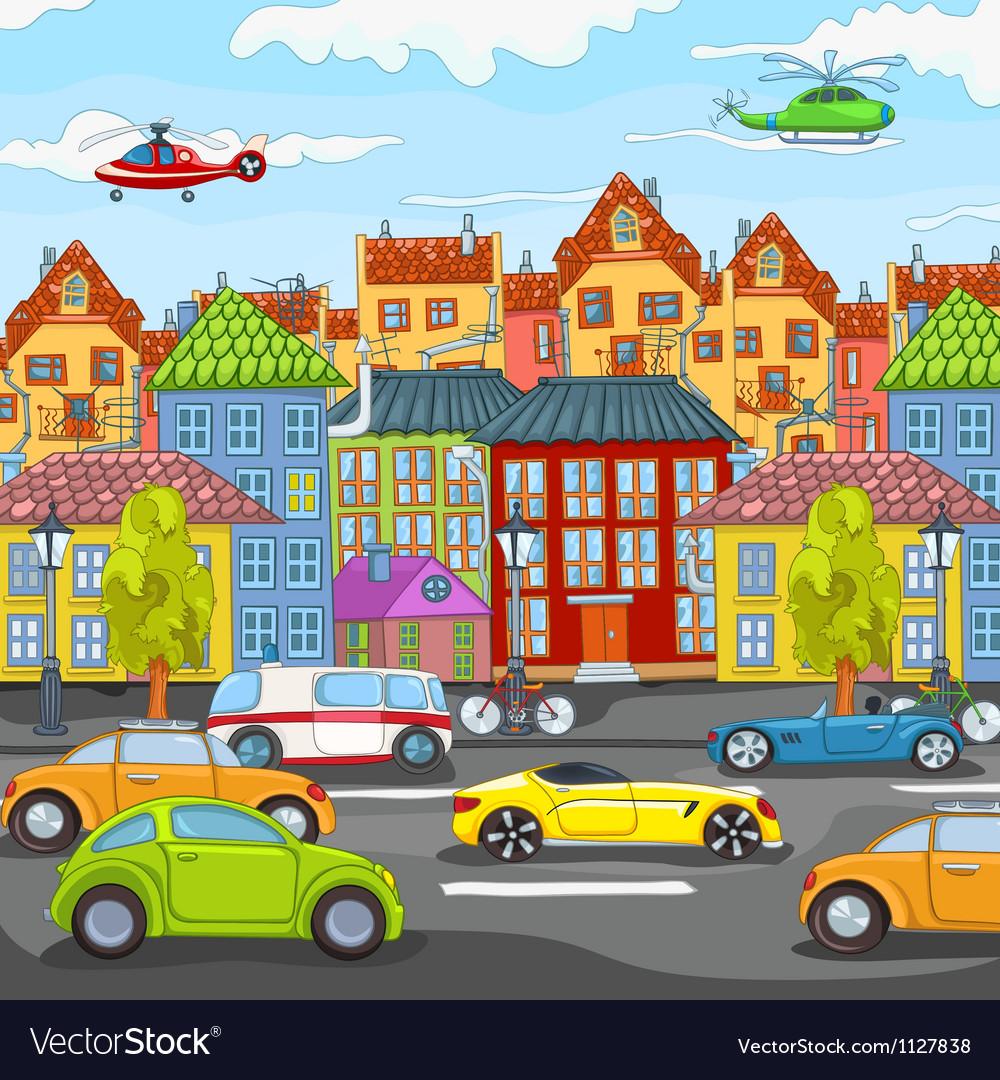 City cartoon vector