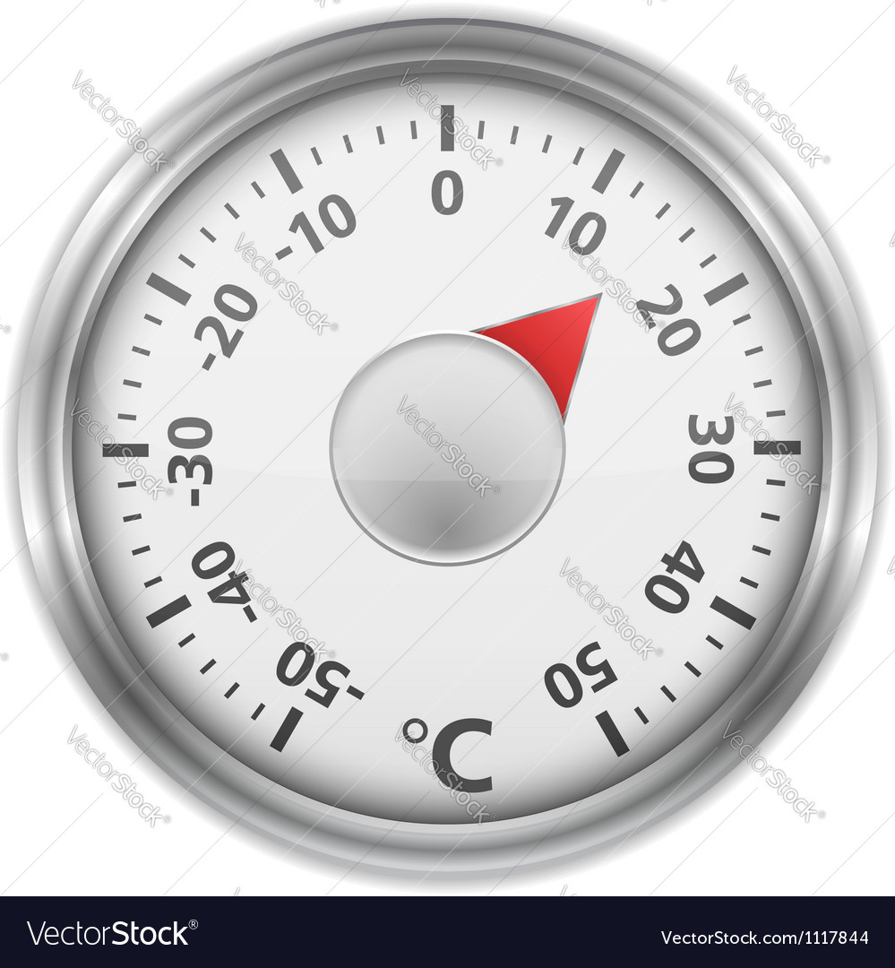 Round thermometer vector