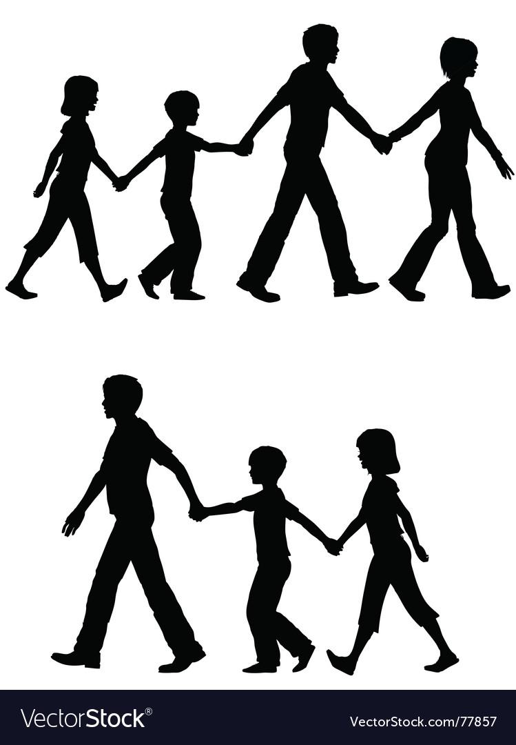 Casual family vector