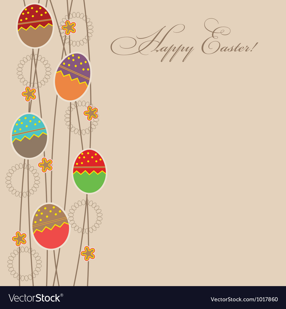 Easter card template vector