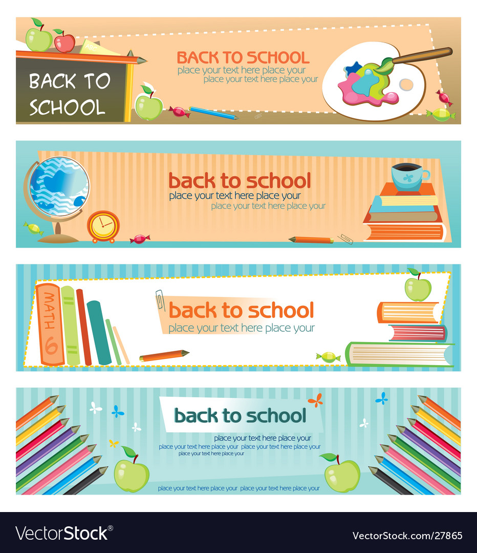 back to school banners vector