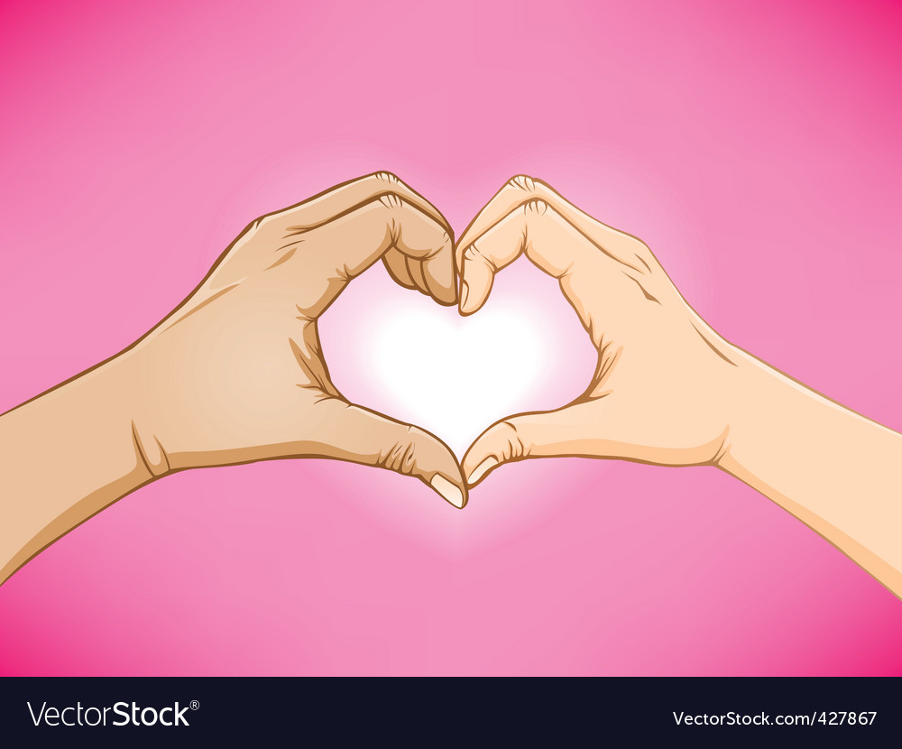 Love Hand Sign Love hand sign vector