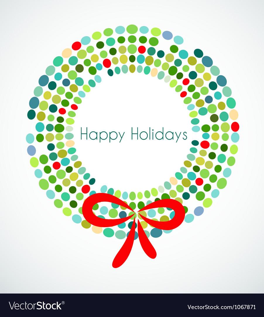 Abstract christmas wreath vector