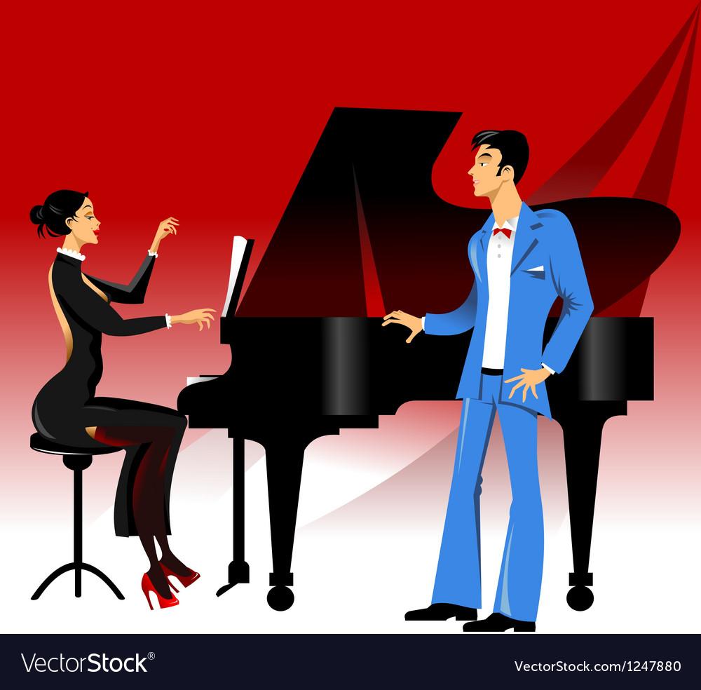 Opera concert vector