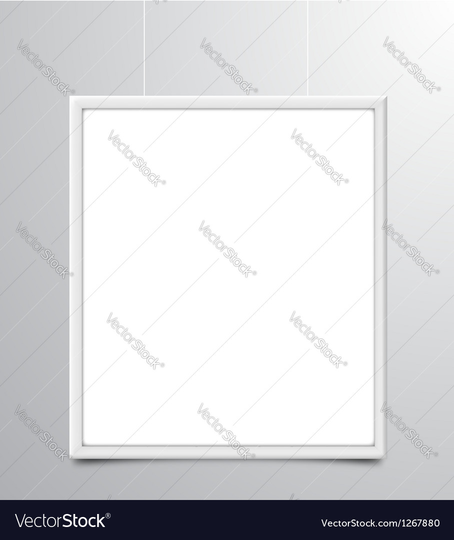 White photo frame vector