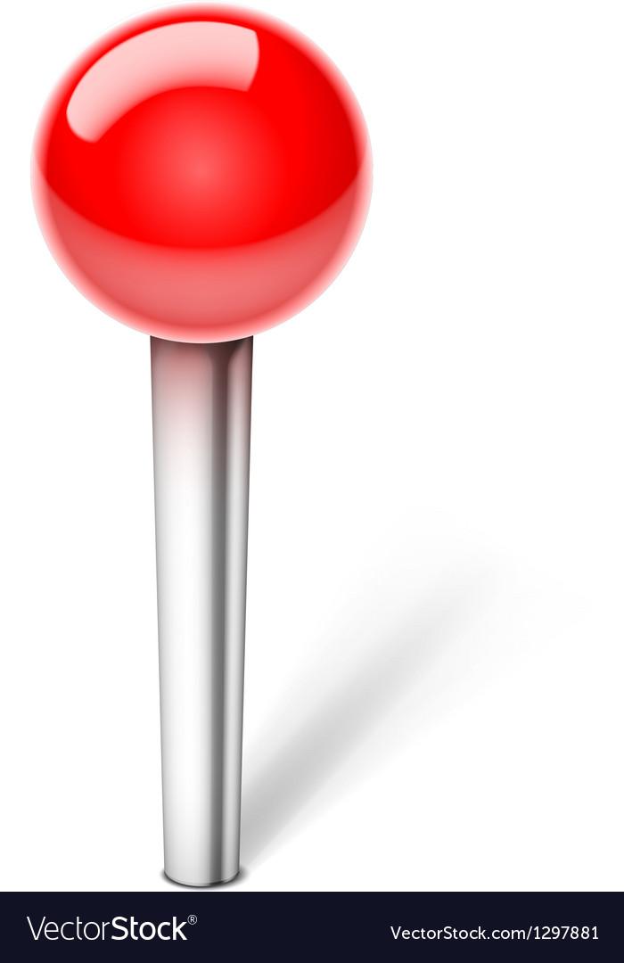 Pin icon vector