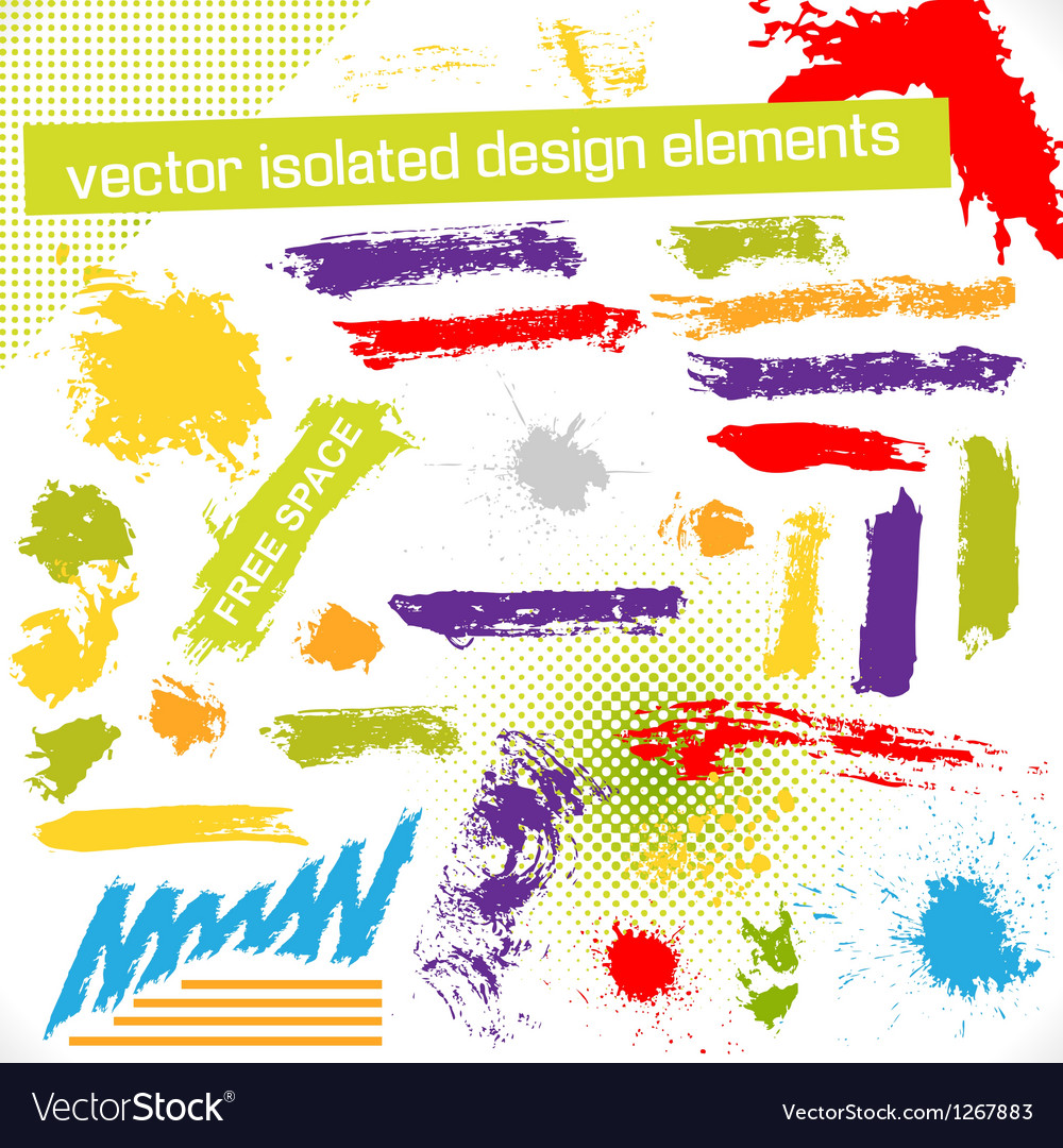 Isolated design elements vector