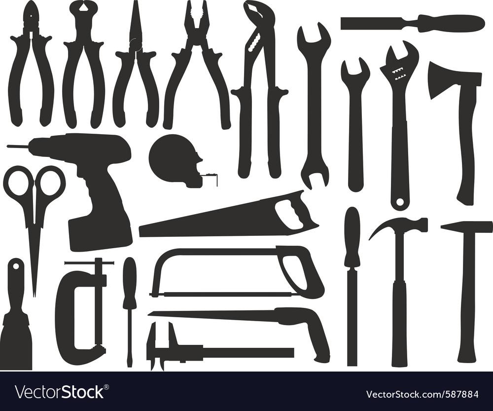 Hand work tools vector