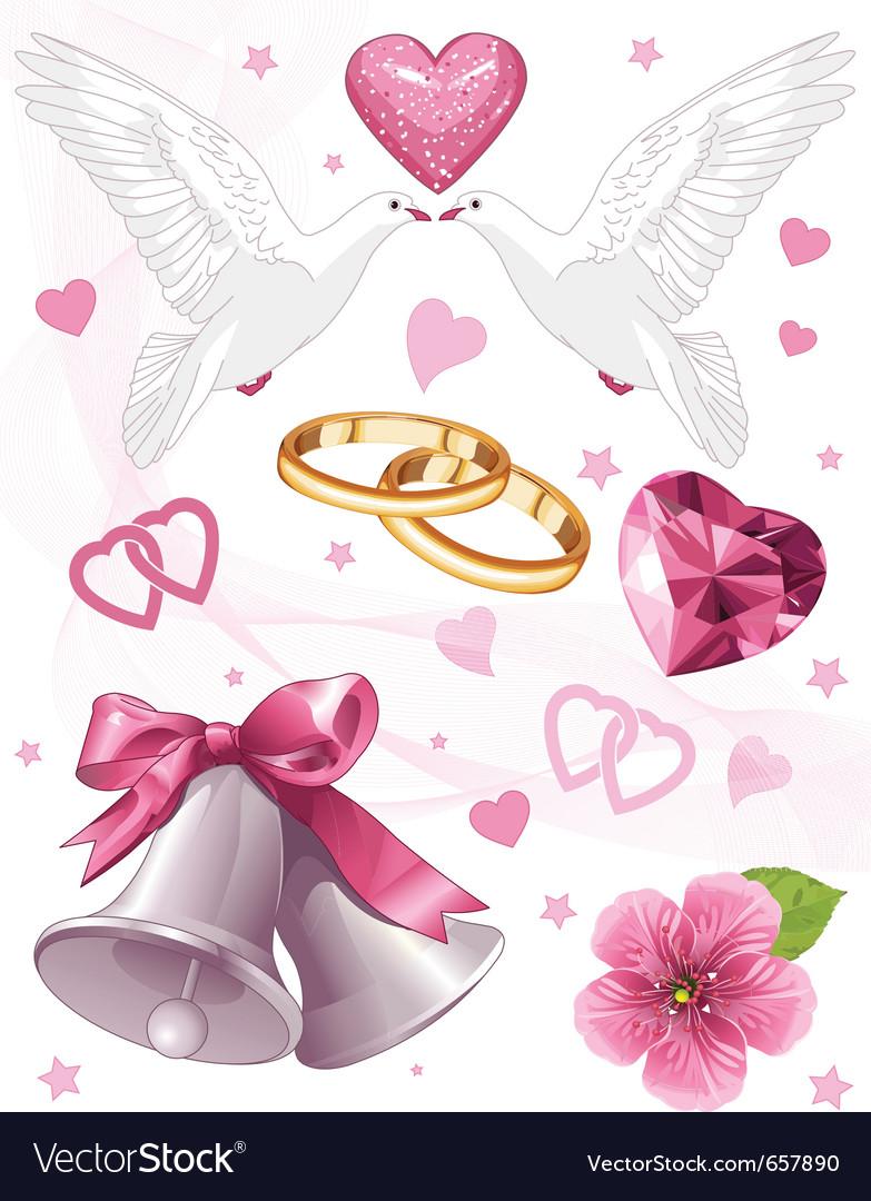 Wedding art for invitations vector