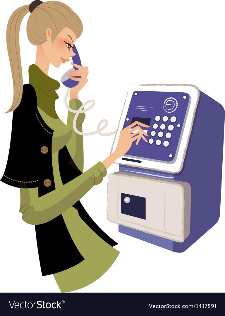 Holding telephone vector
