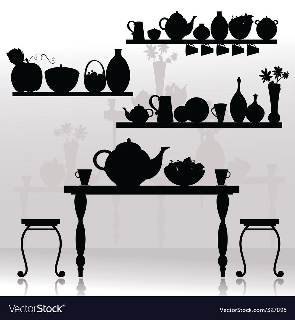 Dining room vector