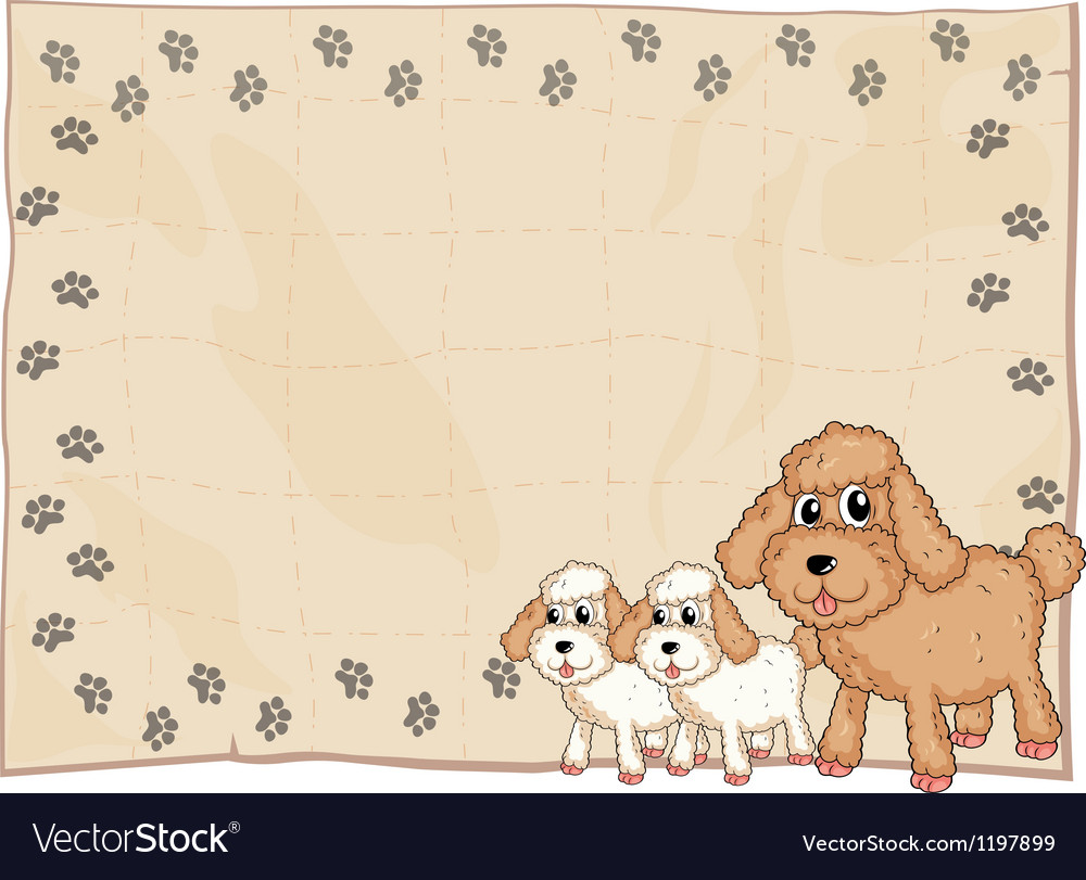 An animal design stationery vector