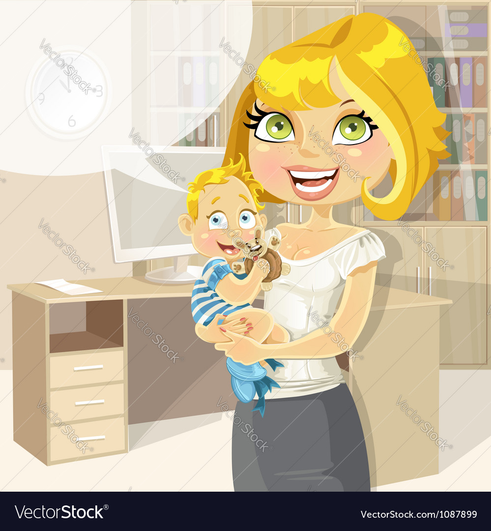 Pretty business mom vector