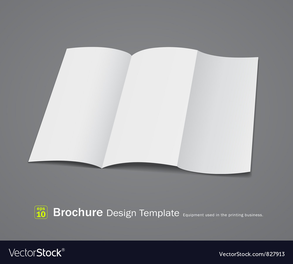 Empty brochure design vector