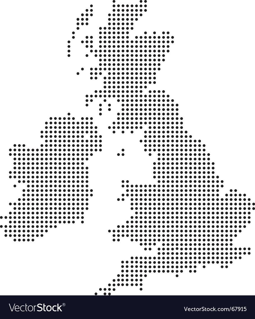 Uk dot map vector