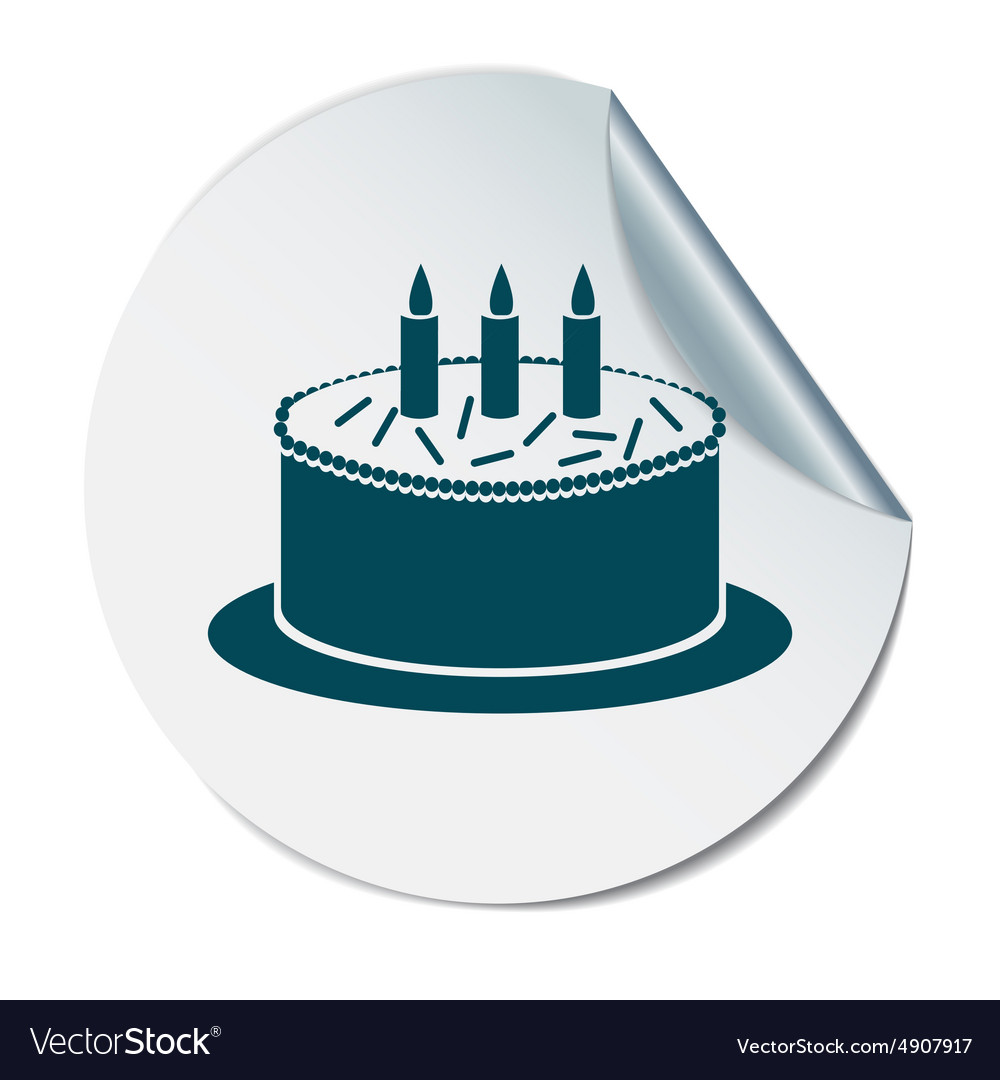 Birthday cake icon vector by Little_cuckoo - Image #4907917 ...