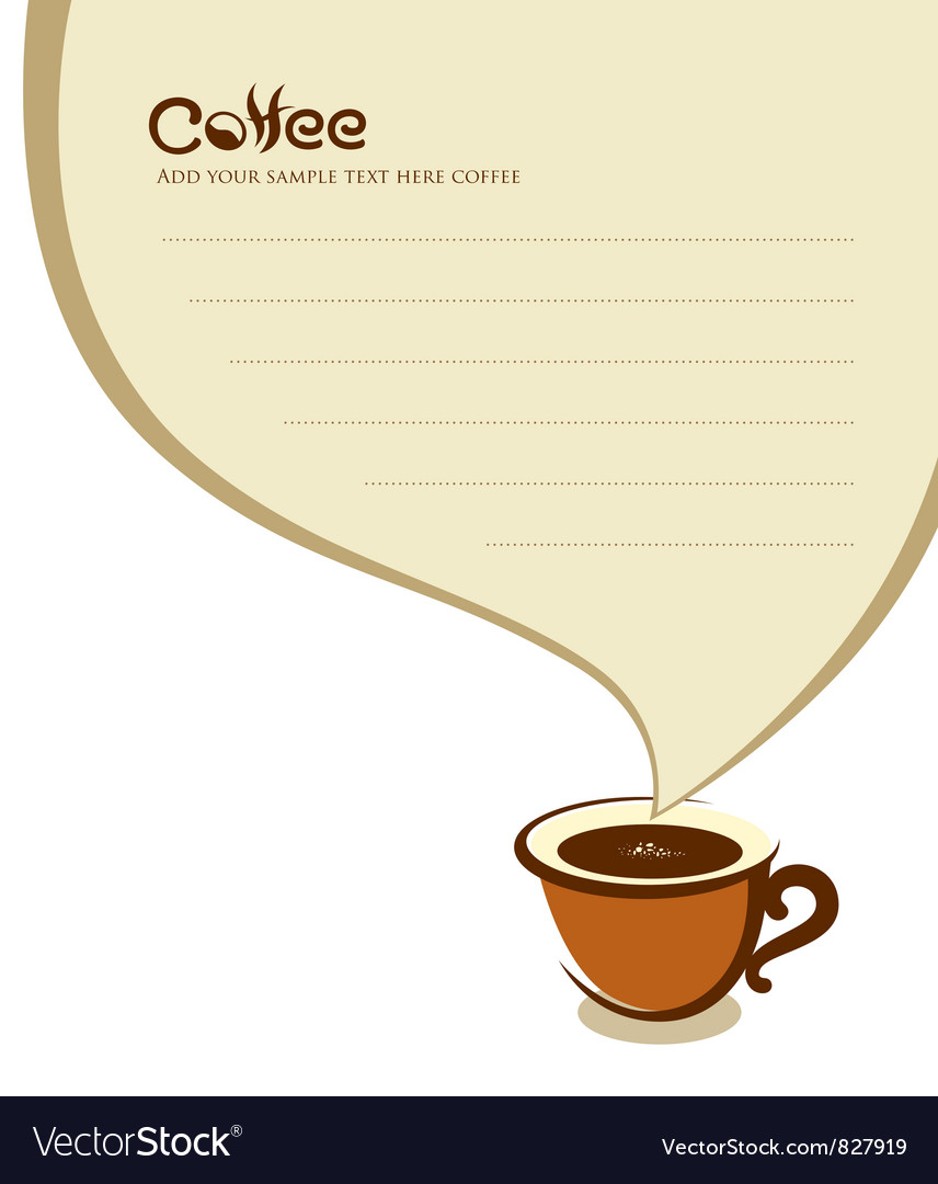 Coffee cup with speech bubble vector