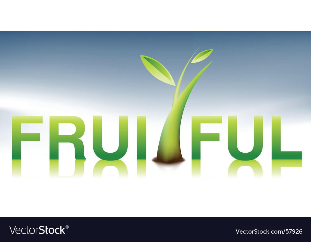 Fruitful illustration vector