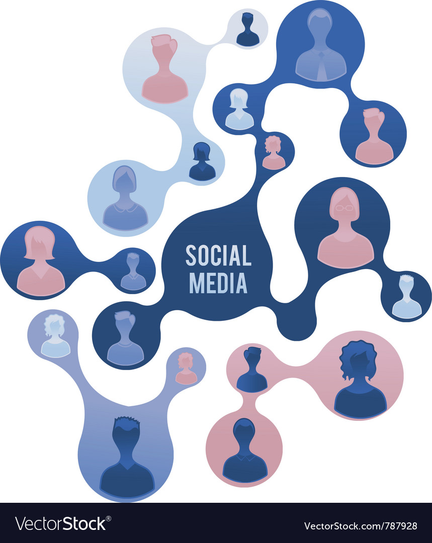 Social media and network vector