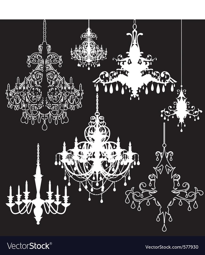 Free chandeliers vector