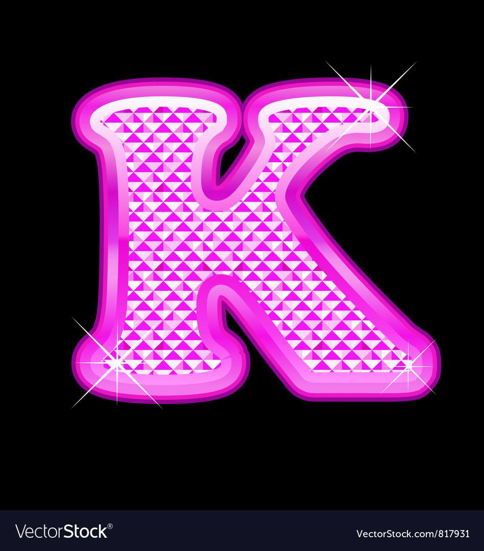 K Letter Images In Pink K letter pink bling girly