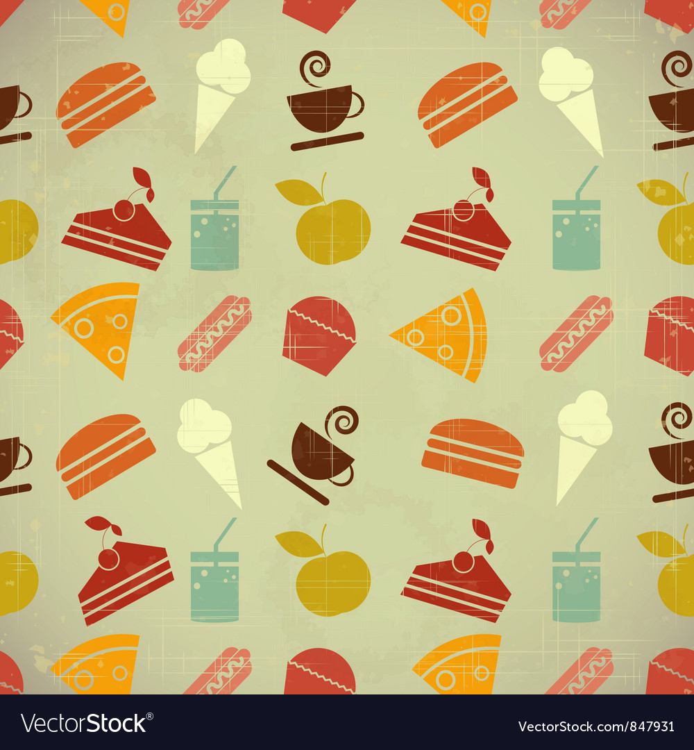 Retro menu seamless color vector