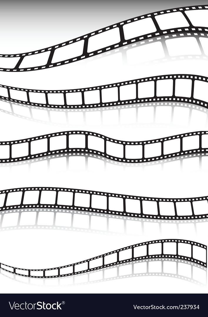 Film strip background vector