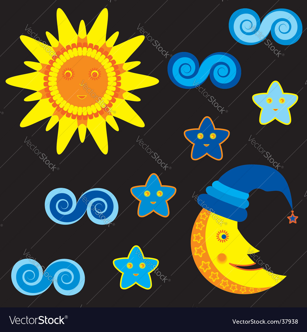 Heavenly bodies vector