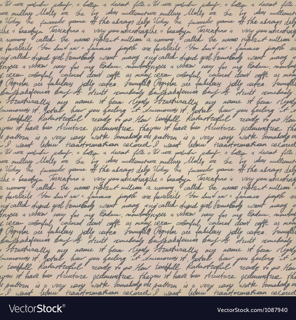 Handwritten letter vector