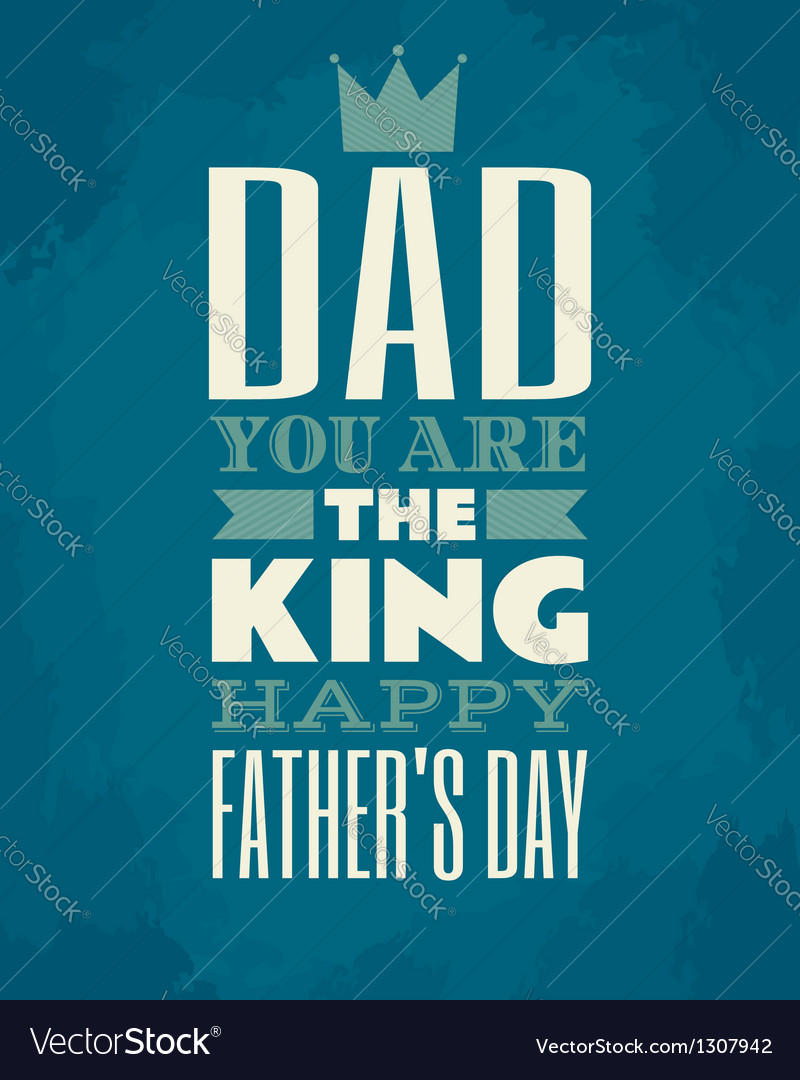 Fathers day card vector