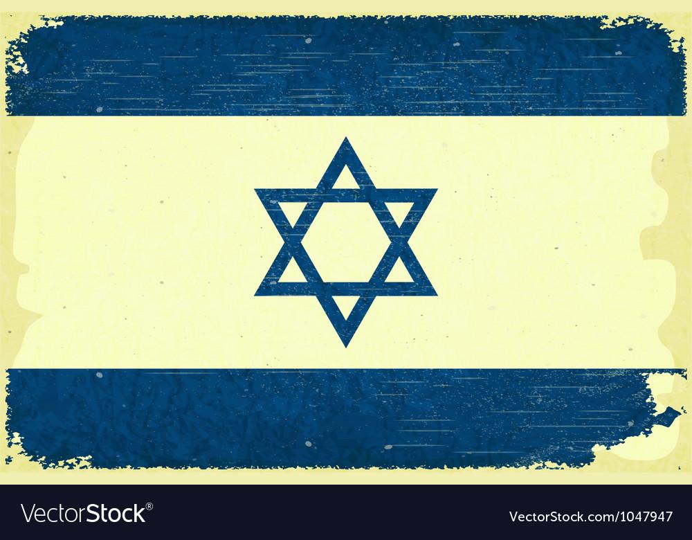 Free israel flag vector