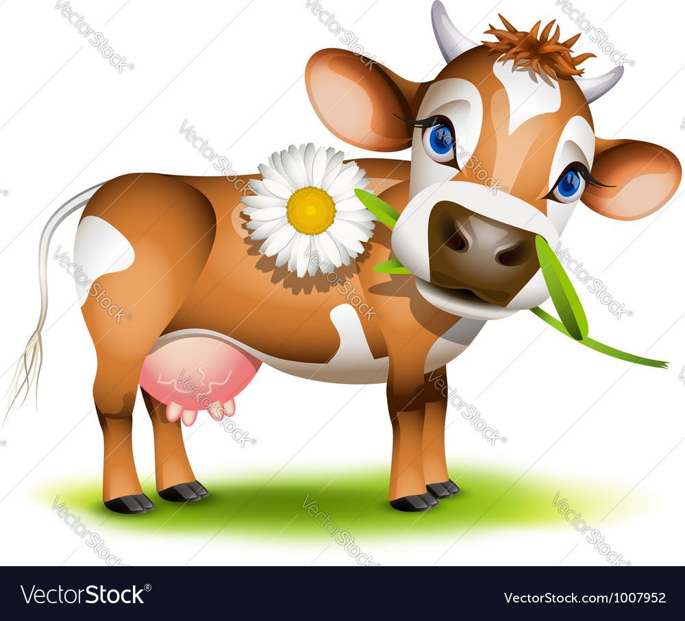 Little jersey cow vector