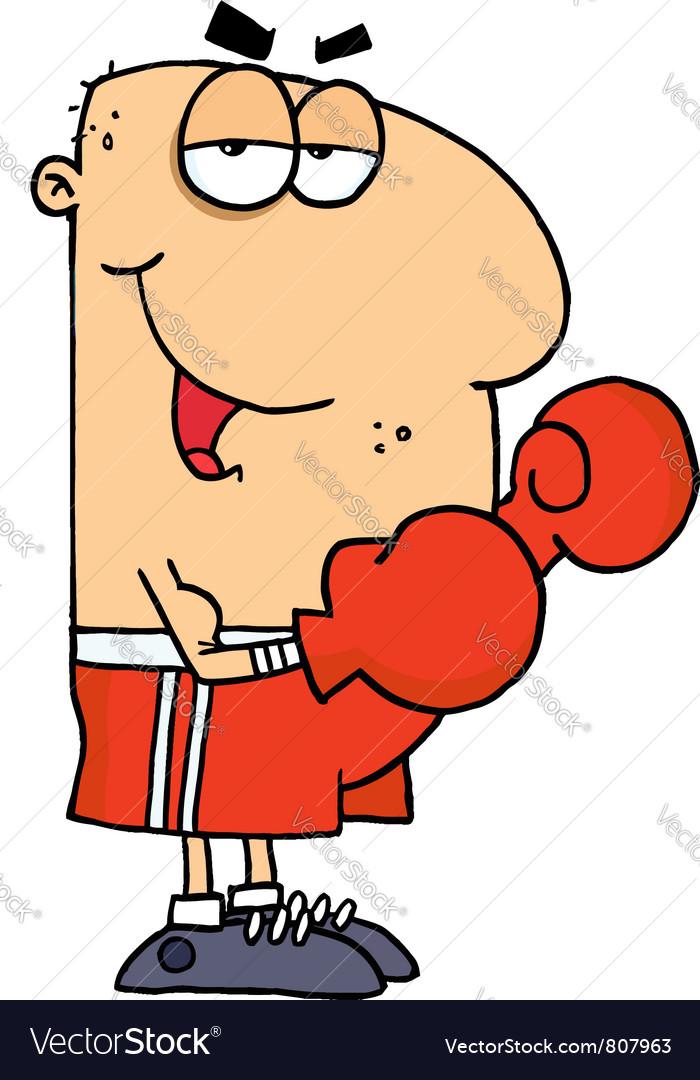 Cartoon boxing fighter man vector