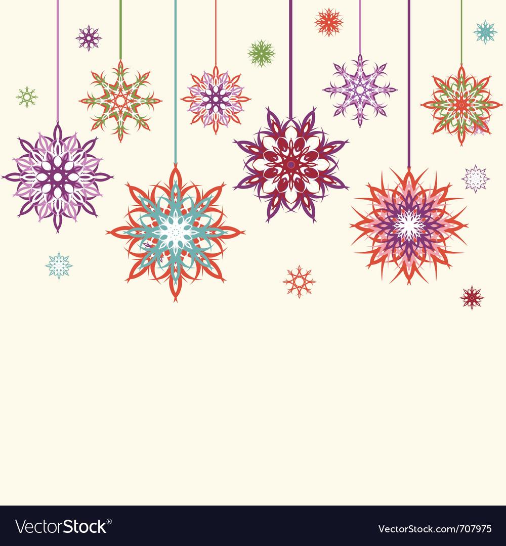 Free snowflake flowers vector