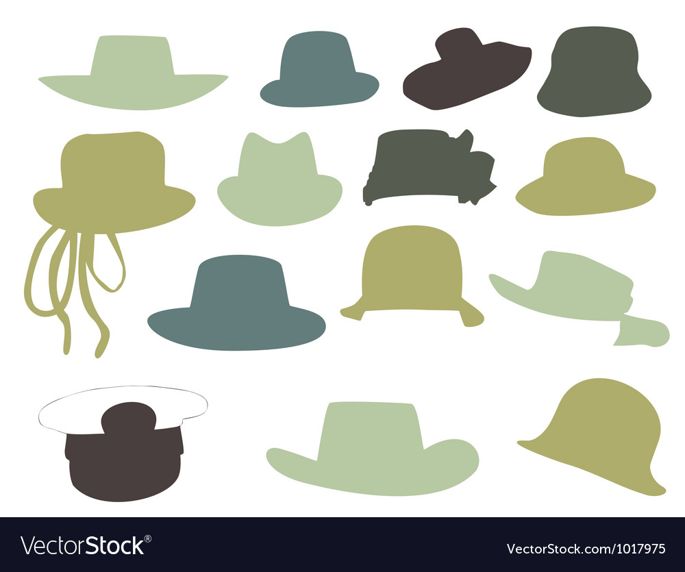Wallets collection silhouette isolated on wh vector