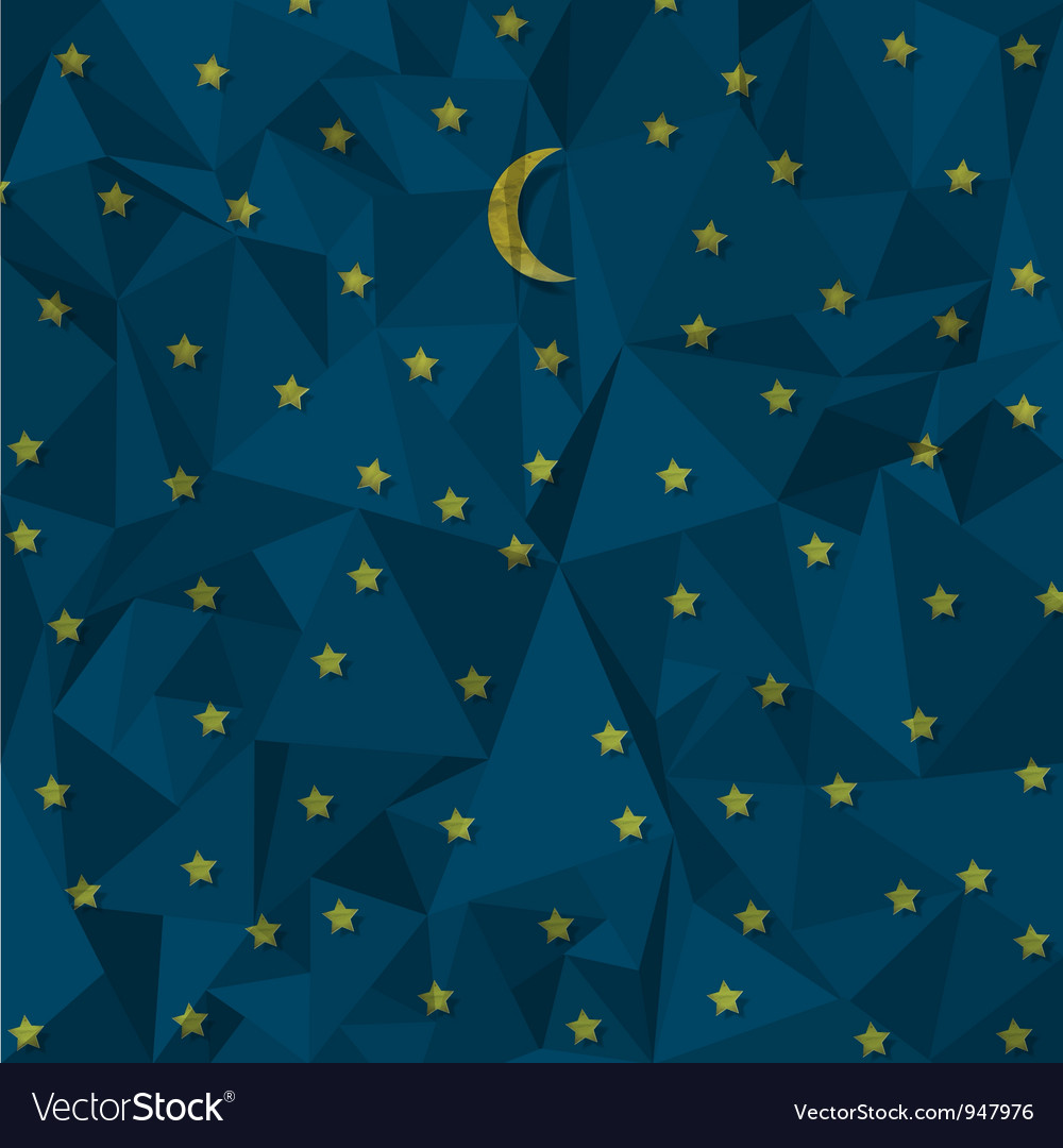 Night sky made from crumpled paper vector