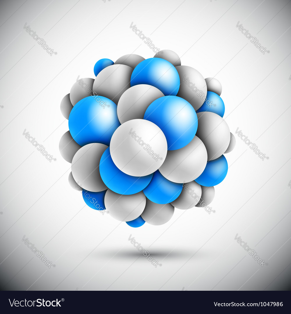 Sphere in form of the molecule vector